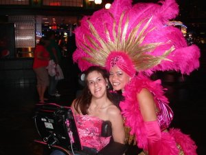 Gena B. & Vegas show girl